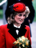 Princess Diana at the Royal School For the Blind at Leatherhead December 1984 Photographic Print