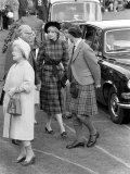 Prince Charles Princess Diana and the Queen Mother at the Braemar For the Highland Games Photographic Print