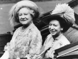 Queen Mother and Princess Margaret in a Carriage Photographic Print