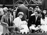 Prince Andrew with Prince Charles and Lady Diana Spencer July 1981 I Photographic Print