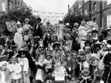 Queen Elizabeth II at a Street Party in Fancy Dress in Methley Street and Radcot Street in London Photographic Print