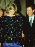 Diana Princess of Wales 1997. Wearing Dress to Be Auctioned in New York Photographic Print