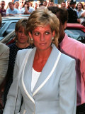 Princess Diana Arrives at the English National Ballet in South Kensington For a Informal Lunch Photographic Print