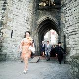 Princess Margaret Leaving Caernarvon Castle During Preparations For Prince Charles Investiture Photographic Print