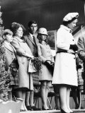 Queen Elizabeth II Standing with Her Children Prince Charles, Princess Anne and Prince Andrew Photographic Print