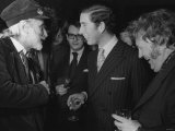Prince Charles Laughs with Heroes Harry Secombe and Spike Milligan at Launching of New 