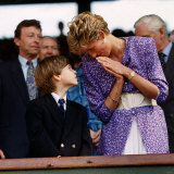 Princess Diana and Prince William at the Wimbledon Ladies Final Photographic Print