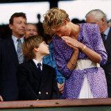 Princess Diana and Prince William at the Wimbledon Ladies Final Photographic Print