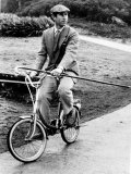 Prince Charles Riding Bike November 1983 Photographic Print