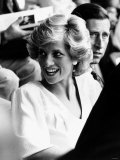 Princess Diana and Prince Charles at Live Aid Concert 1985. Wembley Stadium Photographic Print