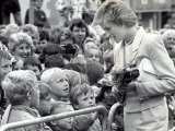 Princess Diana, the Princess of Wales, During Her Visit to the Dr Barnardo's Home, Whitley Bay Photographic Print
