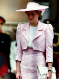 Princess Diana Receives the Freedom of Northampton Wears Pink Suit June 1989 Photographie