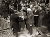 King George VI and Queen Elizabeth Visit the East End, London During WWII Photographic Print