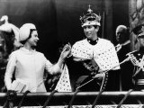 Prince Charles with His Mother Queen Elizabeth II at His Investiture at Caernarvon Castle Photographic Print