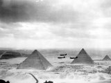 Egyptian WWII Pilots from Middle East Command Training Fotografie-Druck