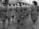 HRH Princess Elizabeth Visits Members of the Womens Land Army at Bedford Photographic Print
