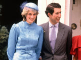 Prince and Princess of Wales in Australia c.1985 Photographic Print