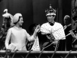 Queen Presenting the Prince of Wales to His People After His Investiture in Caenarvon Castle Photographic Print