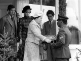 Prince Charles Princess Diana and the Queen Royalty at the Braemar For the Highland Games Photographic Print
