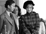 Prince Charles and Princess Diana September 1981 Royalty at the Braemar For the Highland Games Photographic Print
