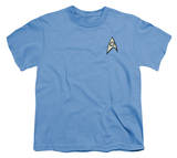 Youth: Star Trek - Science Uniform T-shirts