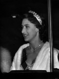 Princess Margaret Leaves Clarence House October 1955 to Dine with the Queen Mother Photographic Print