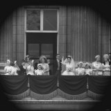 Princess Margaret and Lord Snowdon on Balcony at Buckingham Palace on Wedding Day Photographic Print