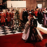 Royal Wedding of Prince Charles and Lady Diana Spencer at St Paul's Cathedral Fotografisk tryk