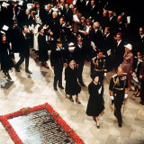 The Royal Family Attending the Funeral of Queen Elizabeths Uncle Lord Mountbatten Photographic Print