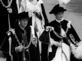 Queen Margrethe of Denmark and Prince Charles During the Royal Garter Ceremony Photographic Print