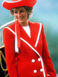 Princess Diana Visits a Navy Colleges Passing Out Parade Dartmouth Devon April 1989 Photographic Print