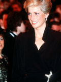 Princess Diana at the Laurence Olivier Awards Dominion Theatre London January 1989 Photographic Print