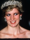 Princess Diana Visits Portugal at a Banquet Hosted by the President at Ajuda Palace Photographic Print