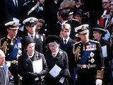 Funeral of Earl Mountbatten with the Royal Family September 1979 Photographic Print