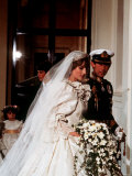 Royal Wedding Prince Charles and Princess Diana July 1981 Fotografisk tryk