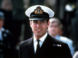Prince Andrew in Naval Uniform Returns from Falklands 1982 at Portsmouth Docks on Hms Invincible Photographic Print
