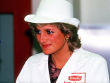 Princess Diana Visits the Unigate Dairy's New West London Plant Photographic Print