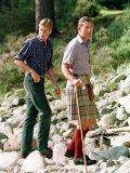 Prince Charles with Sons at Balmoral Photographic Print