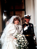 Wedding of Prince Charles and Lady Diana Spencer Arriving at Buckingham Palace July 1981 Fotografisk tryk