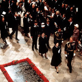 Funeral of Earl Mountbatten in Westminster Abbey 1979 Royal Family Leaving After the Service Photographic Print