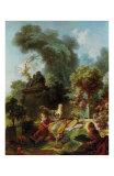 Jean-Honoré Fragonard - L'Amant Couronne - Reprodüksiyon