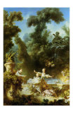 La Poursuite Posters by Jean-Honoré Fragonard