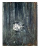 Head, c.1949 Prints by Francis Bacon