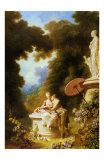 L&#39;Amour-Amitie Posters par Jean-Honor&#233; Fragonard