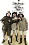 Three Stooges Safari Cardboard Cutouts