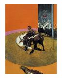 Etude Pour une Corrida No. 1, c.1969 Póster por Francis Bacon