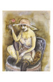 Jeune Fille a la Rose, c.1923 Prints by Otto Dix