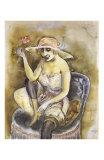 Jeune Fille a la Rose, c.1923 Print by Otto Dix