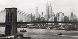Lower Manhattan and the Brooklyn Bridge, c.1937 Posters