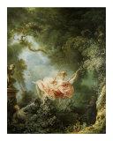 Les Hasards Heureux de l'Escarpolette, c. 1767 Kunst von Jean-Honoré Fragonard